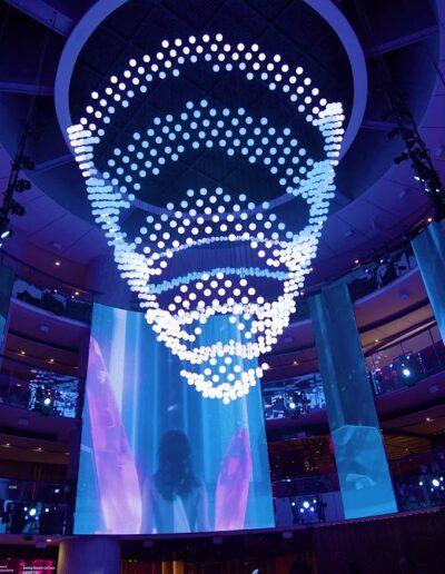 Resorts World Genting's LED light display