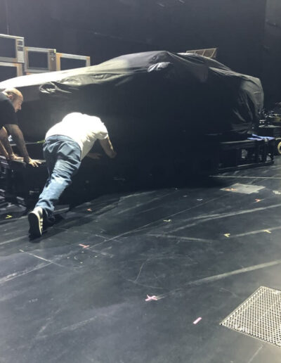 RUN Car - Crew pushing onstage